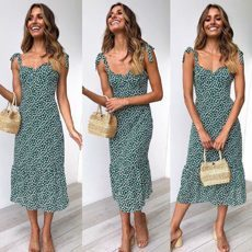 COOL IT NOW MIDI DRESS GREEN