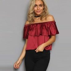 Casual Off Shoulder  Blouse