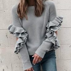 Gray Sweater Cut Out