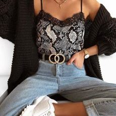 Snake Lace Top