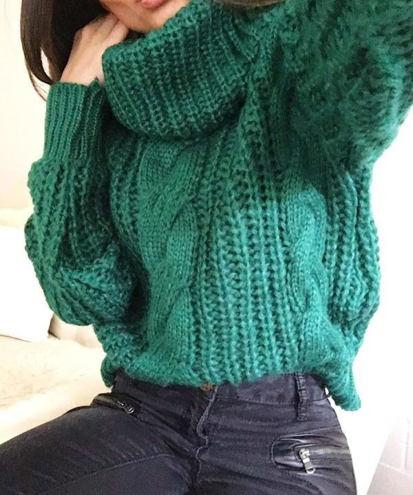 Turtleneck Sweater Green