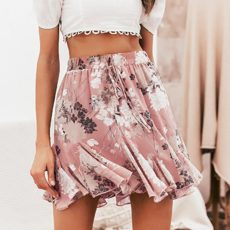 HIGH WASIT FLORAL SKIRT