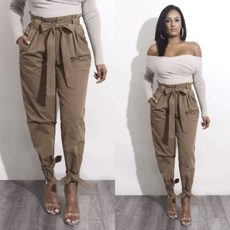 Khaki High Waist Bow